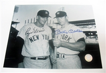 HAND SIGNED ROGER MARIS AND MICKEY MANTLE 8X10, GFA