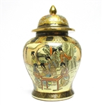 HAND PAINTED CHINESE TEMPLE JAR