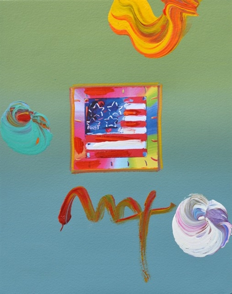MAX ** FLAG ** SIGNED MIXED MEDIA ORIGINAL