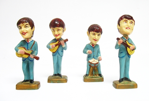 SET OF BEATLES FIGURINES