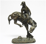 "REMINGTON ""THE OUTLAW"" SIGNED BRONZE STATUE"