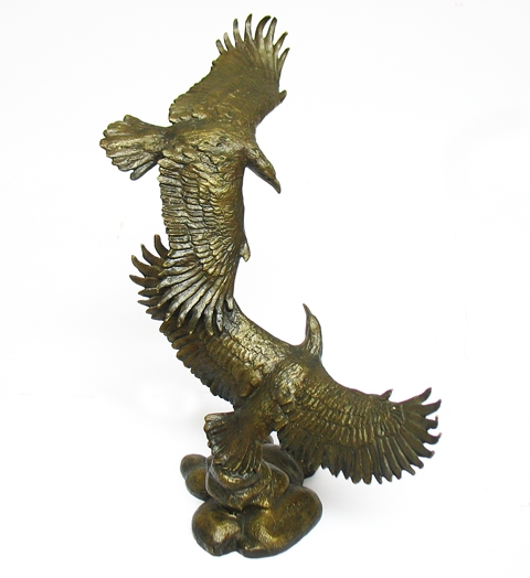 "SIGNED BRONZE STATUE ""GUARDIANS OF THE SKIES"""