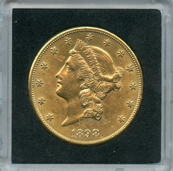AWESOME FULLY DEFINED 1898 S $20 LIBERTY GOLD COIN