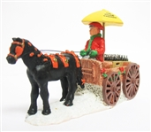 COCA-COLA TOWN SQUARE COLLECTION HORSE DRAWN WAGON
