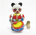 COLLECTIBLE WIND UP PANDA DRUMMER TIN TOY