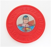 SUPERMAN 50 YEAR TOKEN WITH HOLOGRAM