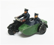 VINTAGE DIE CAST 1950S DINKY TOYS MOTORCYCLE AND SIDECAR