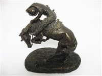 "SIGNED REMINGTON BRONZE STATUE ""THE RATTLESNAKE"""