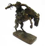 "REMINGTON ""THE BRONCHO BUSTER"" BRONZE STATUE"