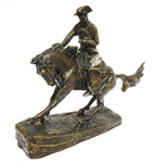 "SIGNED FREDERIC REMINGTON BRONZE STATUE ""THE COWBOY"""