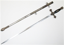 THE HENDERSON AMES CO MASONIC SWORD WITH SHEATH