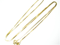 24 IN 18K YG BOX LINK NECKLACE