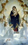 BOUGUEREAU ** THE VIRGIN WITH ANGELS ** CANVAS