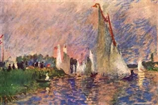 RENOIR ** REGATTA IN ARGENTEUIL ** CANVAS