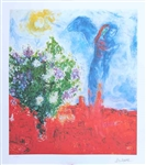 CHAGALL **COUPLE ABOVE ST. PAUL ** LITHOGRAPH