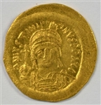 GORGEOUS NEAR MINT JUSTINIAN I BYZANTINE GOLD SOLIDUS