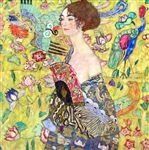 KLIMT ** LADY WITH FAN ** CANVAS