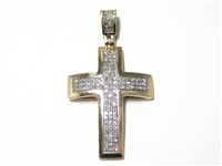 .40 CT DIAMOND GOLD CROSS PENDANT