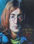 KORHONEN  ** JOHN LENNON GIVE PEACE A CHANCE ** SIGNED ORIGINAL