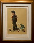 ROCKWELL ** AFTER CHRISTMAS ** SIGNED LITHOGRAPH