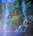 COLEMAN ** AT HOME IN PARADISE ** SIGNED CANVAS