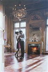 HEFFERAN ** DANCE BY THE FIRE ** SIGNED CANVAS