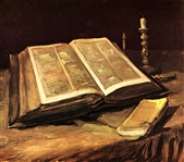 VAN GOGH ** STILL LIFE WITH BIBLE ** CANVAS