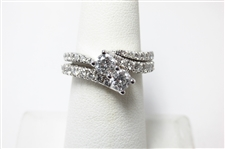 "2 CT DIAMOND ""EVER US"" 14K WG RING SET"