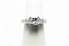 1.95 CT PRINCESS DIAMOND 14K WG MODERN RING