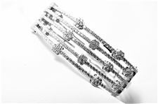"4.10 CT DIAMOND 14K WG ""DEHAGO"" DESIGNER BANGLE BRACELET"