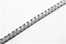 5.21 CT DIAMOND 14K WG TENNIS BRACELET