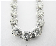PLATINUM DIAMOND NECKLACE 18.46 C.T.W.