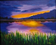 PALYN *** LAKESIDE *** SIGNED CANVAS