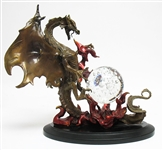 "FRANKLIN MINT ""THE DRAGON OF DESTINY CRYSTAL BALL"""