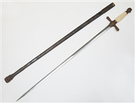 VINTAGE FRATERNAL SWORD WITH SHEATH