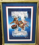 HAND SIGNED FLORIDA PANTHERS TEAM LITHOGRAPH