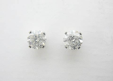 14K WG DIAMOND STUD EARRINGS 1 C.T.W.
