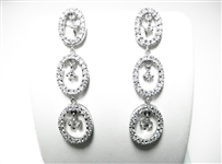 2 CT DIAMOND 18K WG LONG EARRINGS