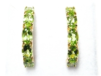 5 C.T.W. PERIDOT GOLD EARRINGS
