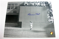 "HAND SIGNED WILLIE MAYS 8X10, ""THE CATCH"""