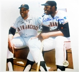 HAND SIGNED WILLIE MCCOVEY AND WILLIE MAYS 8X10
