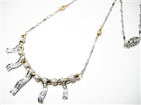 ORNATE 14K TWO TONE DIAMOND NECKLACE