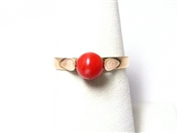 ROSE GOLD CORAL RING