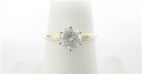 14K DIAMOND SOLITAIRE RING 1.16 CT.