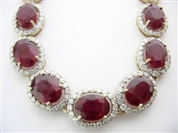 14K RUBY AND DIAMOND NECKLACE 69.96 C.T.W.