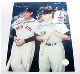 HAND SIGNED MICKEY MANTLE AND TED WILLIAMS 8X10, GFA