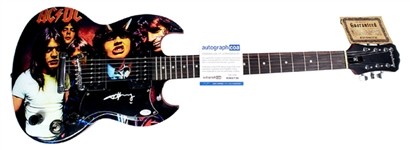 AC/DC Angus Young Autographed Custom Grahpics Guitar ACOA Authenticated