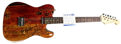 Alice Cooper Schools Out Autographed Custom Graphics Guitar ACOA Authenticated