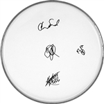 Red Hot Chili Peppers Facsimile Autographed 12 Inch Clear Drumhead