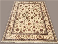 Fine Silk Flowers Hand knotted Persian Tabriz Rug